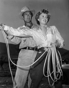 """Gary Cooper and Barbara Stanwyck while on location in Mexico for """"Blowing Wild""""1953 - Image 0809_0041"""
