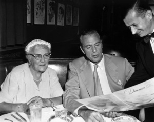 Gary Cooper dining with his mother at the Brown Derby1955 - Image 0809_0076