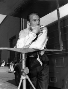 """Gary Cooper between takes during the filming of """"The Fountainhead""""1949Photo by Jack Woods - Image 0809_0077"""