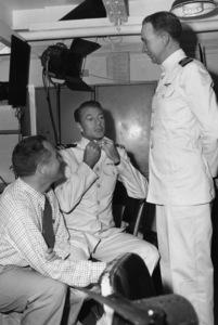 """Task Force""Director Delmer Daves, Gary Cooper 1949 Warner BrothersPhoto by Jack Woods - Image 0809_0094"