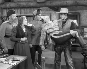 """Madeleine Carroll, Preston Foster, Robert Preston and Gary Cooper in """"North West Mounted Police""""1940 Paramount** I.V / M.T. - Image 0809_0903"""