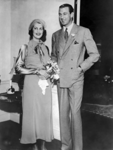 Sandra Shaw and Gary Cooper at their wedding 12/22/1933** I.V. / M.T. - Image 0809_0914
