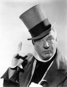 """W.C. Fields in character for  """"David Copperfield,"""" 1934. © 1978 Ted Allan"""