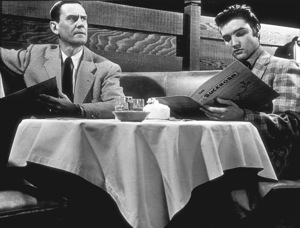 """Elvis Presley and James Gleason in""""Loving You""""1957 Paramount - Image 0818_0008"""