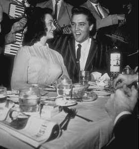 """Elvis Presley and Friend at""""Moulin Rouge"""" in Hollywood, CAcirca 1964Photo by Bert Mittleman - Image 0818_0032"""