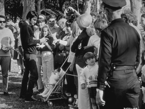 """Elvis Presley signing autographsduring a break from """"Change of Habit""""1969 Universal - Image 0818_0092"""