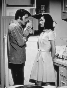 "Elvis Presley and Mary Tyler Moore on the set of ""Change of Habit""1969 Universal - Image 0818_0097"