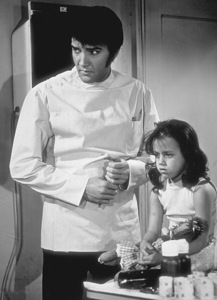 "Elvis Presley and Lorena Kirkon the set of ""Change of Habit""1969 Universal - Image 0818_0100"