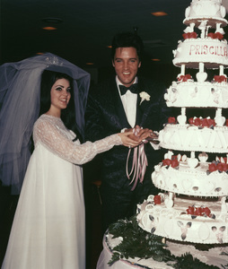Elvis Presley and Priscilla on their wedding day1967 - Image 0818_0119