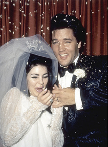Elvis Presley and Priscilla on their wedding dayMay 1, 1967 - Image 0818_0121