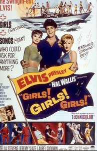 "Elvis Presley poster for""Girls, Girls, Girls""1962 - Image 0818_0124"