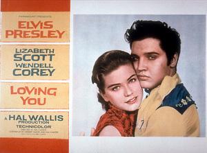"Elvis Presley lobby card for""Loving You""; 1957 - Image 0818_0125"