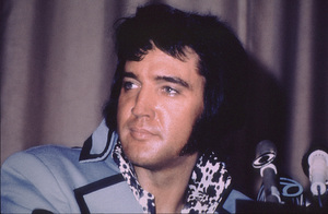 Elvis Presley at a news conferencecirca 1972 - Image 0818_0138