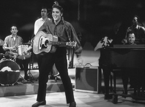 """Elvis Presley in Los Angeles, for appearance on """"The Ed Sullivan Show,"""" 9/9/56.Photo by Gabi Rona - Image 0818_0407"""