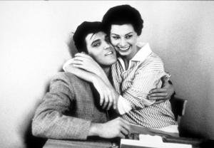 Elvis Presley and Sophia Loren at Paramount Studios, 1958. © 1978 Bob WilloughbyMPTV  - Image 0818_0411
