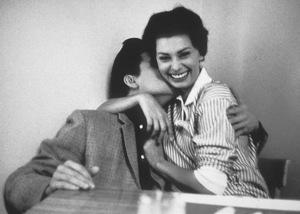 Elvis Presley with Sophia Loren at Paramount Studios, 1958. © 1978 Bob Willoughby - Image 0818_0413