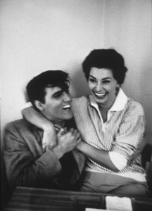 Elvis Presley with Sophia Loren at Paramount Studios, 1958. © 1978 Bob Willoughby - Image 0818_0414