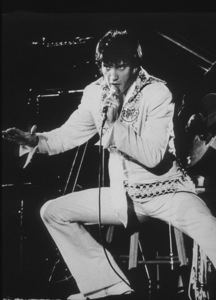 Elvis Presley peforms at the Houston Astrodome in Houston, Texas, February 28, 1970. - Image 0818_0438