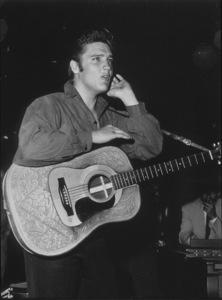 "Elvis Presley backstage of ""The Ed Sullivan Show,""in Los Angeles, 9/9/56. CBS.Photo by Gabi Rona - Image 0818_0440"