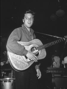 "Elvis Presley backstage of ""The Ed Sullivan Show,""in Los Angeles, 9/9/56. CBS.Photo By Gabi Rona - Image 0818_0441"