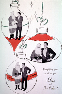 Elvis Presley and the Colonel Christmas Card, c. 1963. - Image 0818_0478