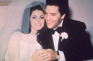 Elvis Presley and his bride, the former Priscilla Ann Beaulieu on their wedding day in Las Vegas, May 26, 1967. - Image 0818_0480