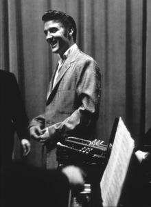 Elvis Presley rehearsal for 1956 L.A., performance. Photo: Ernest Reshovsky © 1978 Marc Reshovsky - Image 0818_0540
