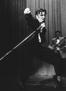 Elvis Presley, 1956 L.A. performance. Photo: Ernest Reshovsky © 1978 Marc Reshovsky - Image 0818_0543