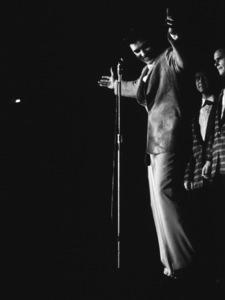 Elvis Presley, 1956 L.A. performance. Photo: Ernest Reshovsky © 1978 Marc Reshovsky - Image 0818_0550