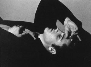 Elvis Presley resting at a 1956 L.A. performance. Photo: Ernest Reshovsky © 1978 Marc Reshovsky - Image 0818_0552