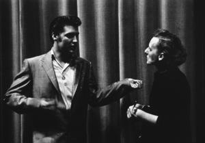Elvis Presley backstage at a 1956 performance. Photo: Ernest Reshovsky © 1978 Marc Reshovsky - Image 0818_0558