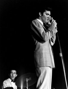 Elvis PresleyDuring a 1956 Performance in L.A.,Ca.Photo by Ernest Reshovsky © 1978 Marc Reshovsky - Image 0818_0559