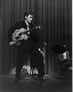 Elvis PresleyDuring a 1956 Performance in L.A.,Ca.Photo by Ernest Reshovsky © 1978 Marc Reshovsky - Image 0818_0561