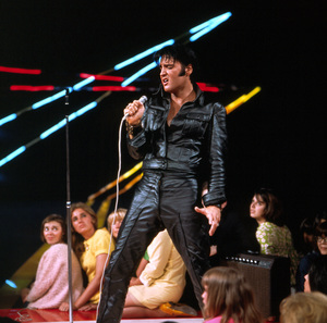 Elvis Presley during his ""