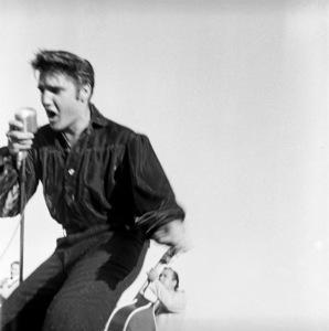 Elvis Presley performing in Tupelo, Mississippi1956 © 1978 Roy Cummings - Image 0818_0671