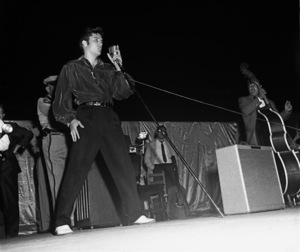 Elvis Presley performing in Tupelo, Mississippi1956 © 1978 Roy Cummings - Image 0818_0678