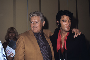 Elvis Presley with his father Vernon1969© 1978 Gary Lewis - Image 0818_0688