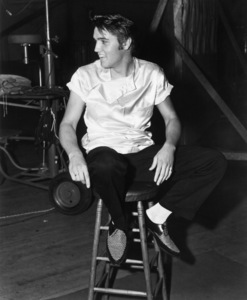 "Elvis Presley during the making of ""Love Me Tender""1956** I.V.M. - Image 0818_0736"