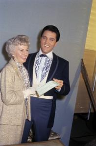Elvis Presley and Barbara Stanwyck1964© 1978 Roy Cummings - Image 0818_0746
