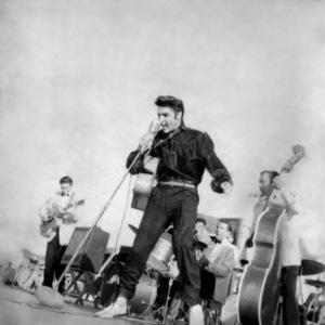 Elvis Presley performing in Tupelo, Mississippi 1956 © 1978 Roy Cummings - Image 0818_0753