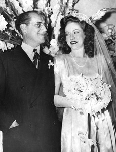 Groucho Marx and new wife Catherine Gorcey on their wedding day1945** I.V. - Image 0820_0456