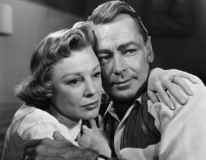 """June Allyson and Alan Ladd in """"The McConnell Story""""1955 Warner BrothersPhoto by Pat Clark - Image 0821_0040"""