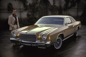 Ricardo Montalban and his 1975 Chrysler Cordoba1975 © 1978 Sid Avery - Image 0823_0056