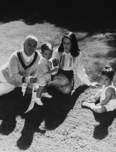Charles Chaplin with wife Oona and children Michael and Geraldine1948 © 1978 John Engstead - Image 0860_0624