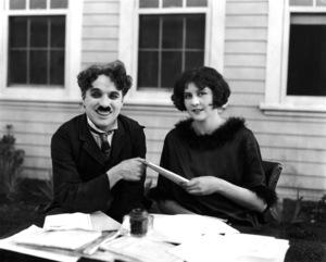 Charlie Chaplin with wife Lita Grey, 1924.**I.V. - Image 0860_0666