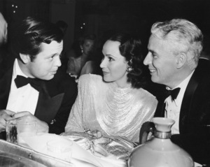 Orson Welles, Dolores Del Rio & Charlie Chaplin at Ouida Rathborn partyC. 1941**I.V. - Image 0860_0682