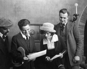 Charlie Chaplin, Nazimova & Charles Bryant1918** I.V. - Image 0860_0685