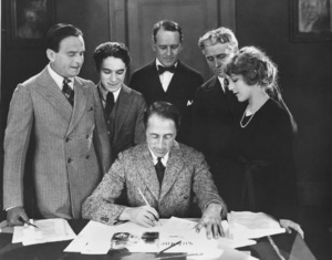 D.W. Griffith, Douglas Fairbanks, Charlie Chaplin, Mary PickfordUnited Artists Signing1919 **I.V. - Image 0860_0701