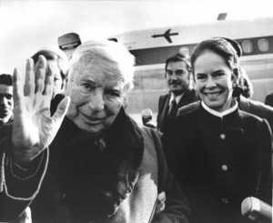 Charlie Chaplin and Oona Chaplinarriving in ParisC. 1971** I.V. - Image 0860_0707