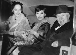 Geraldine Chaplin (center) with sister Josephine and father Charles (Charlie) Chaplin1967 - Image 0860_0716